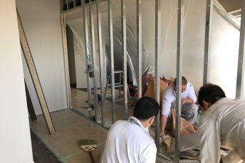 第②弾 中央区S様邸マンション 壁を引違い戸にリフォーム!壁解体工事編