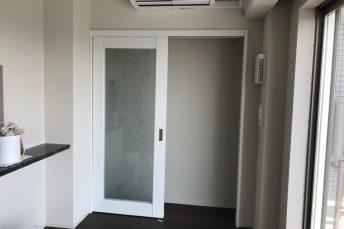 第⑤弾 中央区S様邸マンション 壁を引違い戸にリフォーム!建具設置編