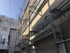 第②弾 大田区Sハイツの屋根改修工事及び塗装工事!足場組工事